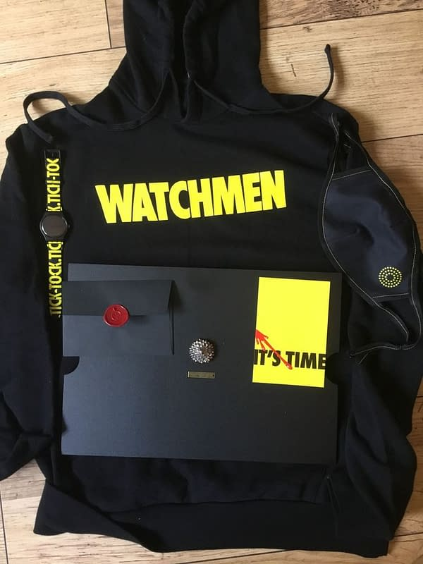 Getting a Big Box of HBO Watchmen Stuff