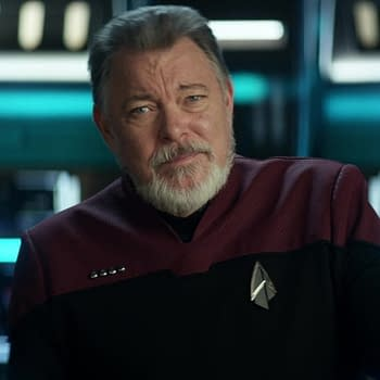 Jonathan Frakes as William Riker in Star Trek, courtesy of CBS Interactive, Inc.