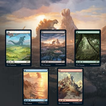 Magic: The Gathering Releasing Secret Lair: Godzilla Lands
