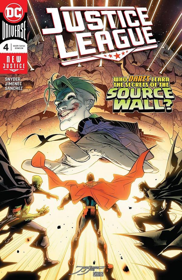 Justice League #4 cover by Jorge Jimenez and Alejandro Sanchez