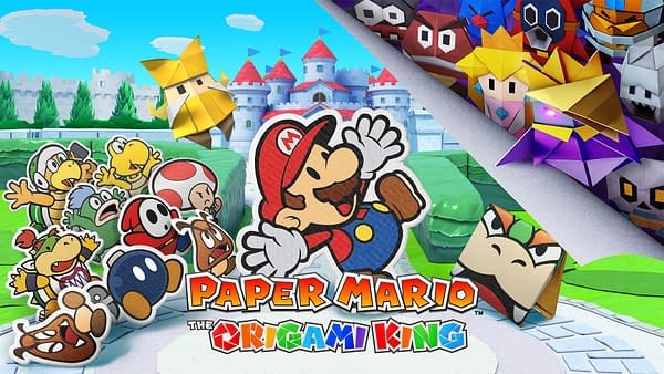 Paper Mario The Origami King Main Art