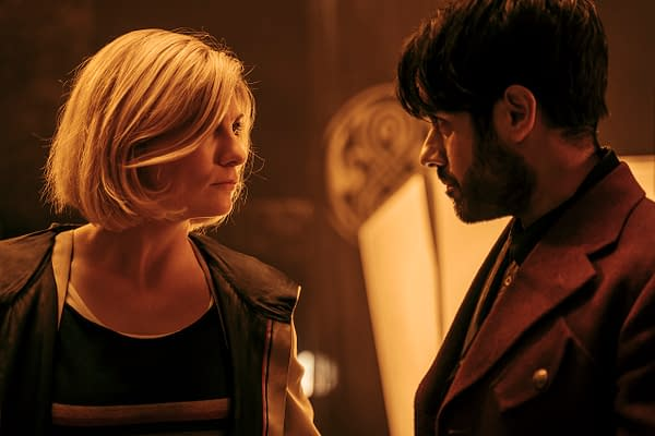 Jodie Whittaker as The Doctor and Sacha Dhawan as The Master in Doctor Who, courtesy of BBC Studios.
