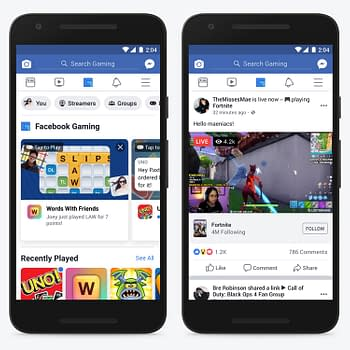 Facebook Goes After YouTube and Twitch With New Gaming Tab