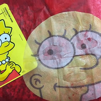 simpsons face mask the face shop