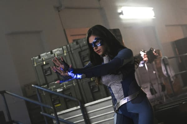 """Supergirl -- """"What's So Funny About Truth, Justice and The American Way?"""" -- Image Number: SPG413b_0376b.jpg -- Pictured: Nicole Maines as Nia Nal/Dreamer -- Photo: Sergei Bachlakov/The CW -- © 2019 The CW Network, LLC. All Rights Reserved."""