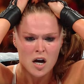 A photo of Ronda Rousey from Money in the Bank 2018.