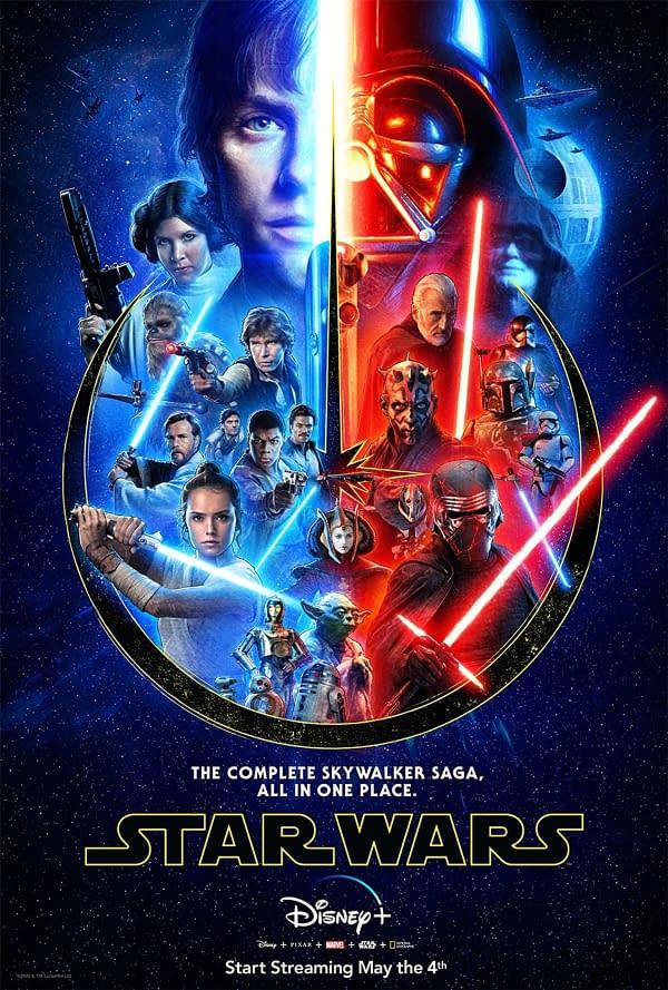Star Wars The Complete Saga will be on Disney Monday. Credit Disney