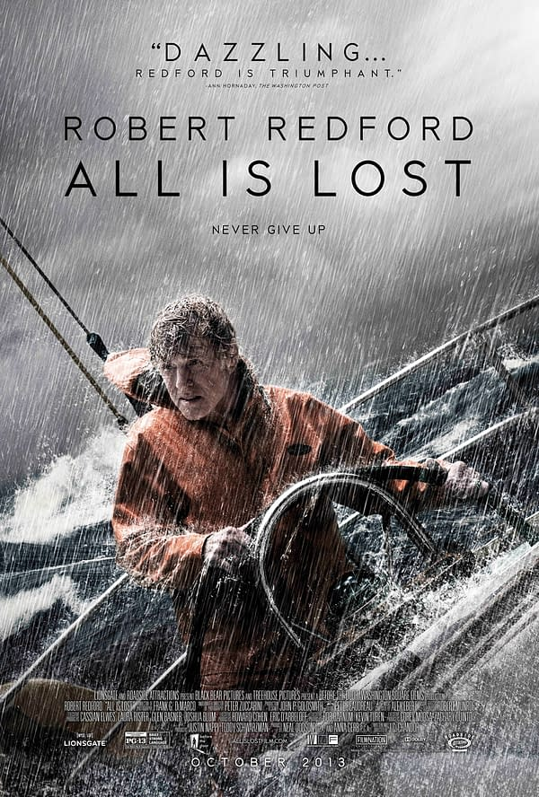 All Is Lost poster Robert Redford