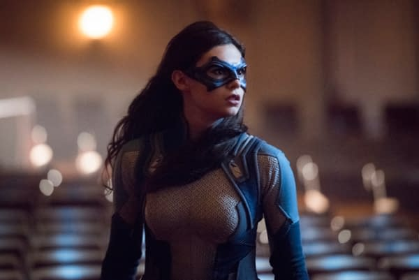 """Supergirl -- """"Event Horizon"""" -- Image Number: SPG501a_0261b.jpg -- Pictured: Nicole Maines as Nia Nal/Dreamer -- Photo: Dean Buscher/The CW -- © 2019 The CW Network, LLC. All Rights Reserved."""