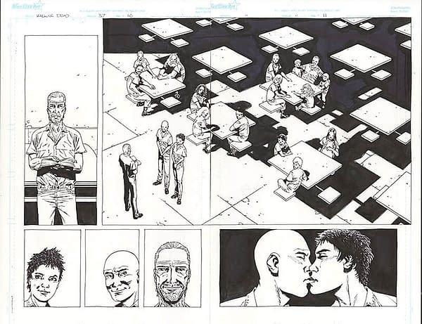 Comic Connect Walking Dead Art Page Auction #37 Glen Maggie Wedding