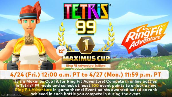 Tetris 99 et Ring Fit Adventure se réunissent, gracieuseté de Nintendo.