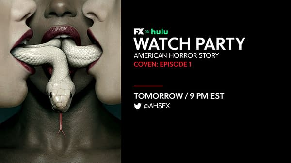 FX on Hulu is having a watch party for the first episode of American Horror Story: Coven, courtesy of FX Networks.