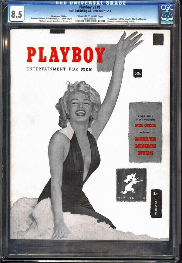 The issue of Playboy Issue #1 up for sale on ComicConnect. Image Credit: ComicConnect