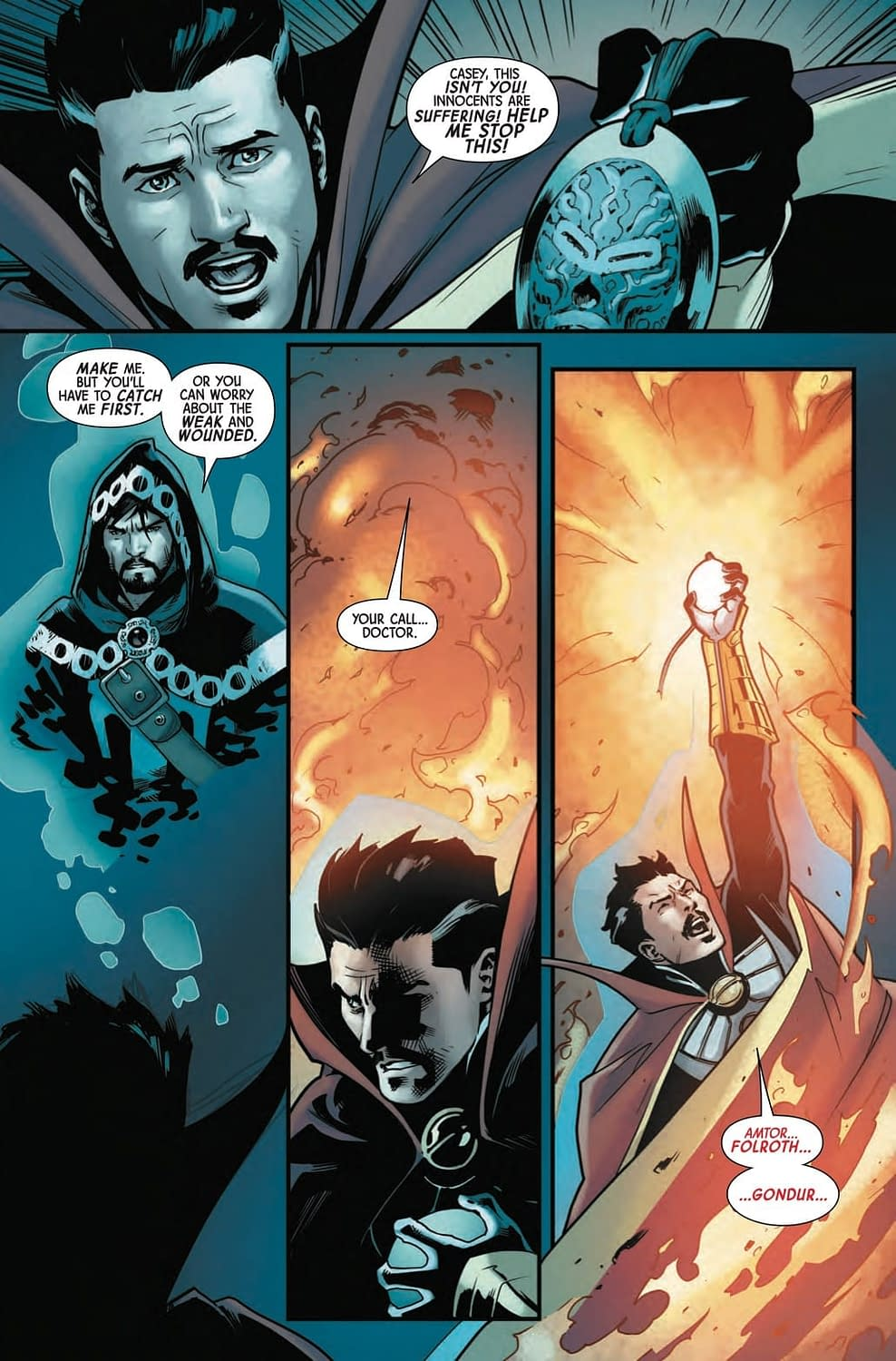 Doctor Strange is Putting Out Fires in Next Week's Doctor Strange #7