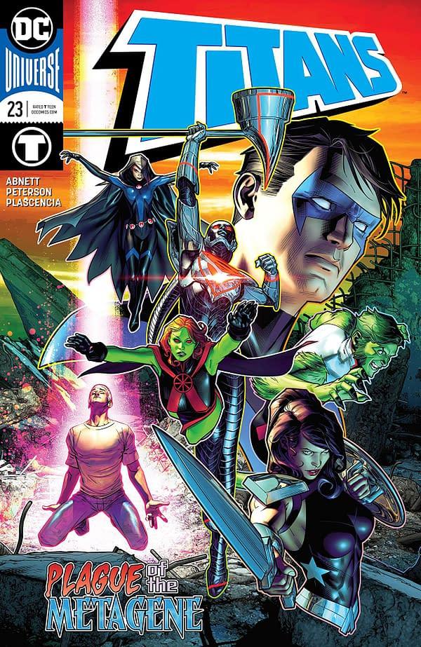Titans #23 cover by Brandon Peterson