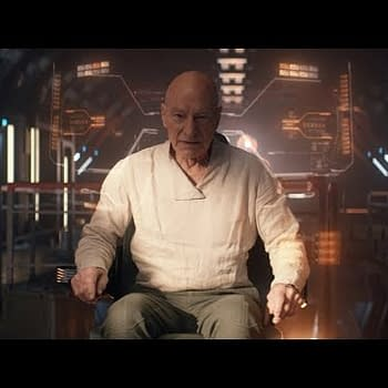 Jean-Luc needs answers fast in Star Trek: Picard, courtesy of CBS All Access.