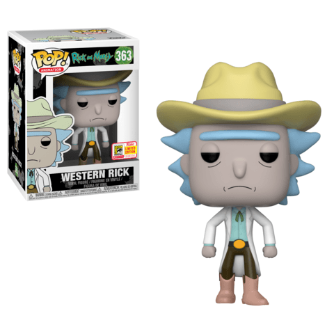 Funko SDCC Rick and Morty Western Rick Pop