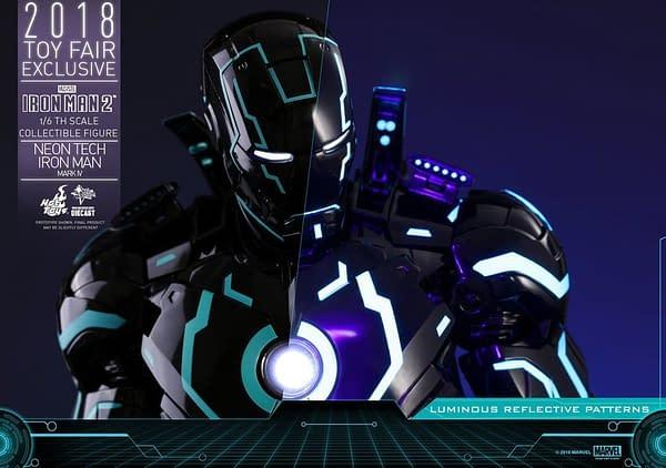 Hot Toys Neon Armor Tech Iron Man 5