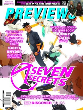 X Of Swords and Seven Secrets on Next Week's Diamond Previews Covers.