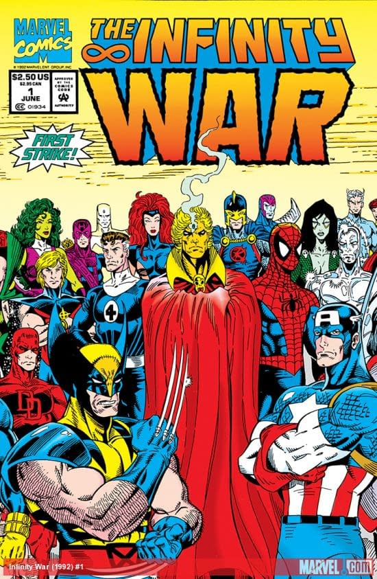 Infinity War #1 cover by Ron Lim and Al Milgrom