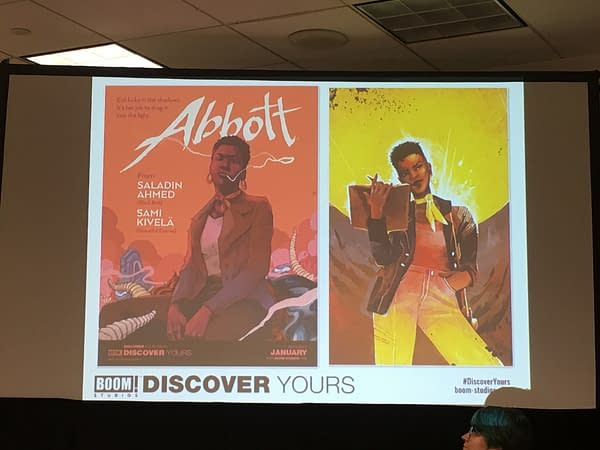 BOOM! Panel announcing Saladin Ahmed's title