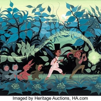 Peter Pan concept art by Mary Blair. Image from Heritage Auctions