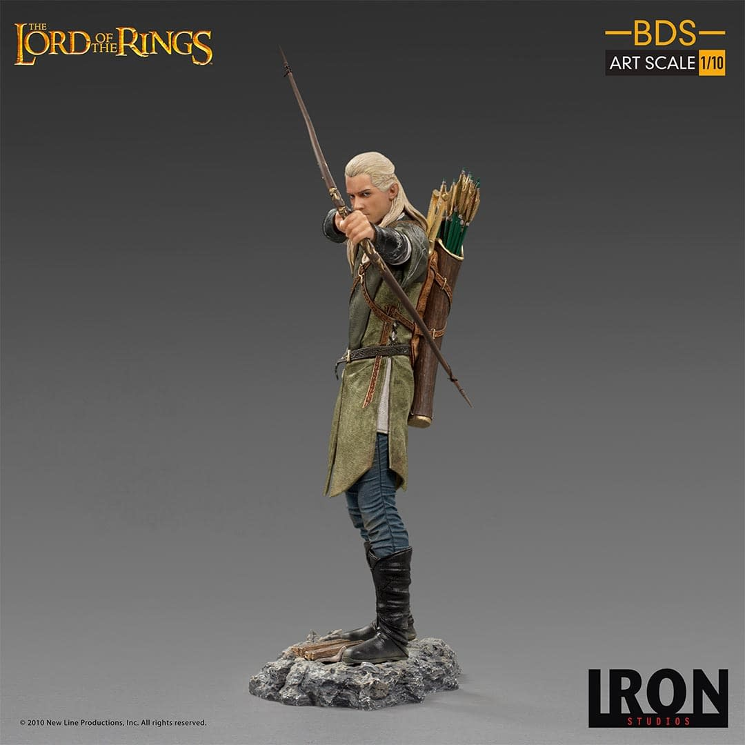 Lord of the Rings Legolas Battle Diorama Statue from Iron Studios