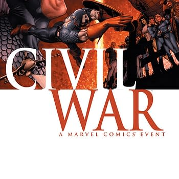 The cover to Civil War #1 from Marvel Comics.