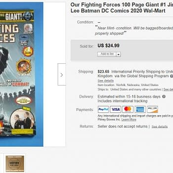 Jim Lee Sees Our Fighting Forces Giant #1 Sells For $25 on eBay