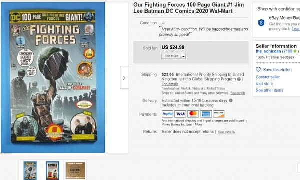 Jim Lee's Our Fighting Forces Giant #1 Sells For $25 on eBay.