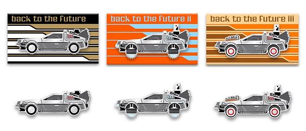 Mondo Back to the Future Pins 1