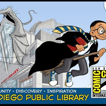 Lucas Turnblooms Harry Potter-Styled San Diego Public Library Card