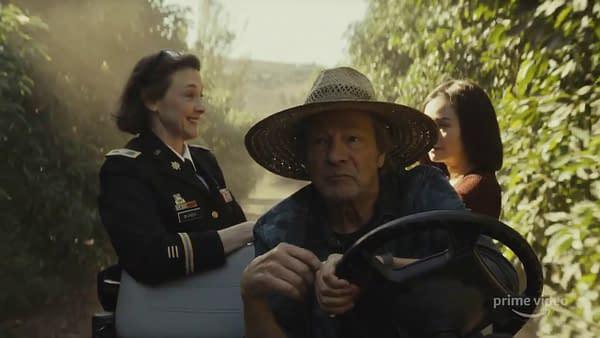 Chris Cooper, Joan Cusack, and Hong Chau star in Homecoming season 2, courtesy of Amazon Prime.