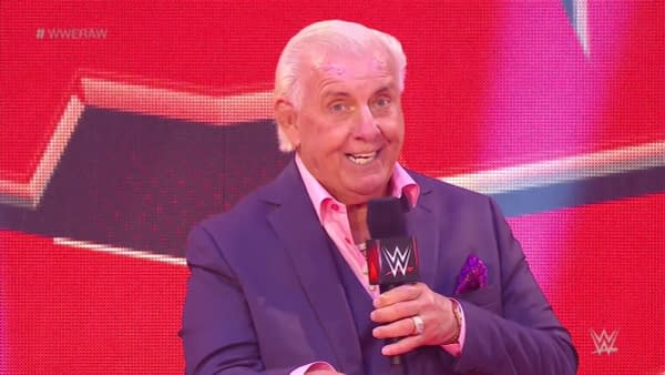 Ric Flair is on WWE Raw in the middle of a coronavirus pandemic for some reason.