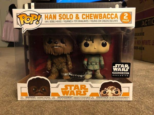 Funko Smugglers Bounty Star Wars Solo box Han and Chewbacca Pop Set