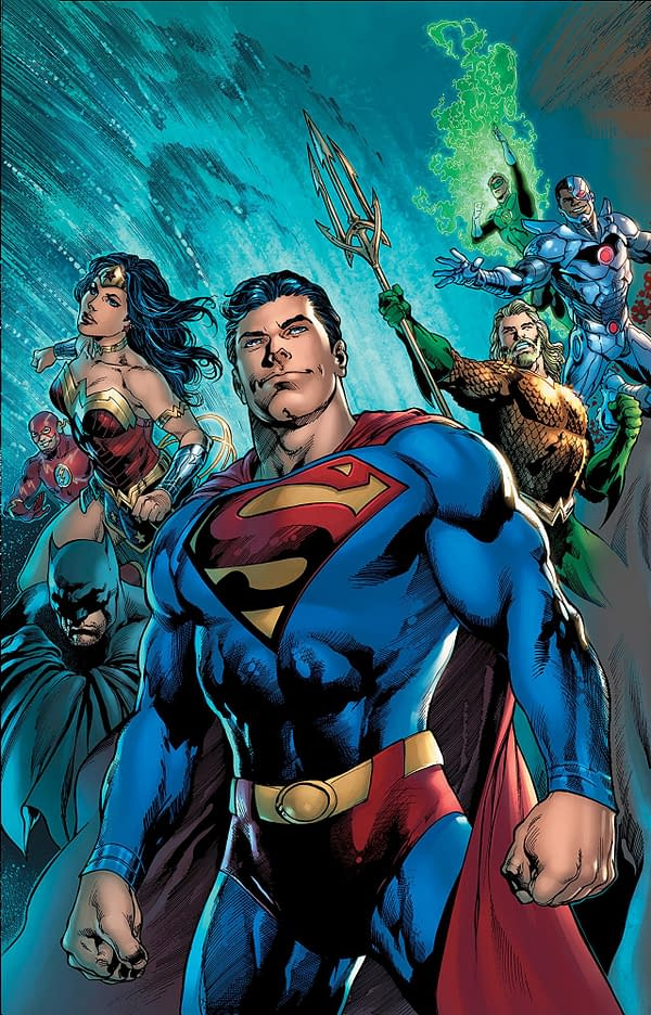The Man of Steel #1 cover by Ivan Reis, Joe Prado, and Alex Sinclair