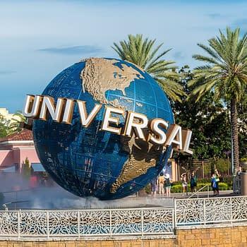 Universal Studios globe located at the entrance to the theme park. Universal Studios Orlando is a theme park resort in Orlando, Florida, USA. Editorial credit: Craig Russell / Shutterstock.com