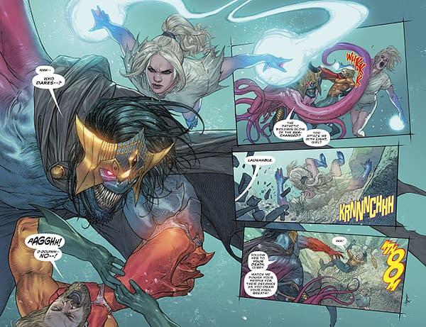 Aquaman #38 art by Riccardo Federici and Sunny Gho