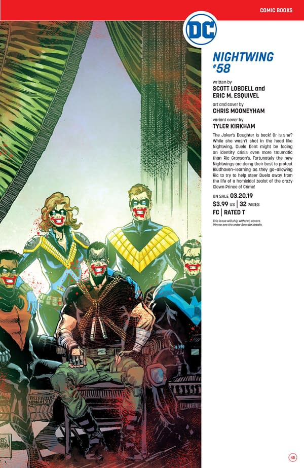 Nightwing #58 Solicit by Scott Lobdell and Eric M. Esquivel