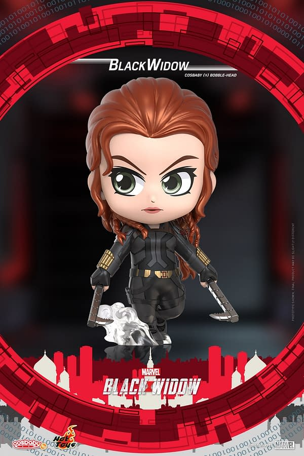 Black Widow Gets Wave of Cosbaby Figures from Hot Toys