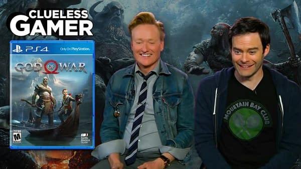 Watch Conan O'Brien and Bill Hader Take on God Of War