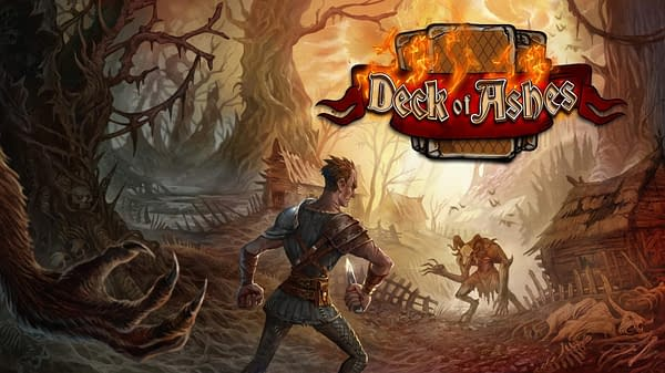 Key art for Deck of Ashes. an indie game by AY Games, out on June 9th, 2020.