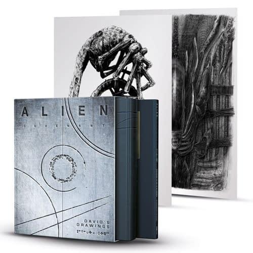 Titan SDCC Exclusive Alien Covenant: David's Drawings with 2 Art Prints