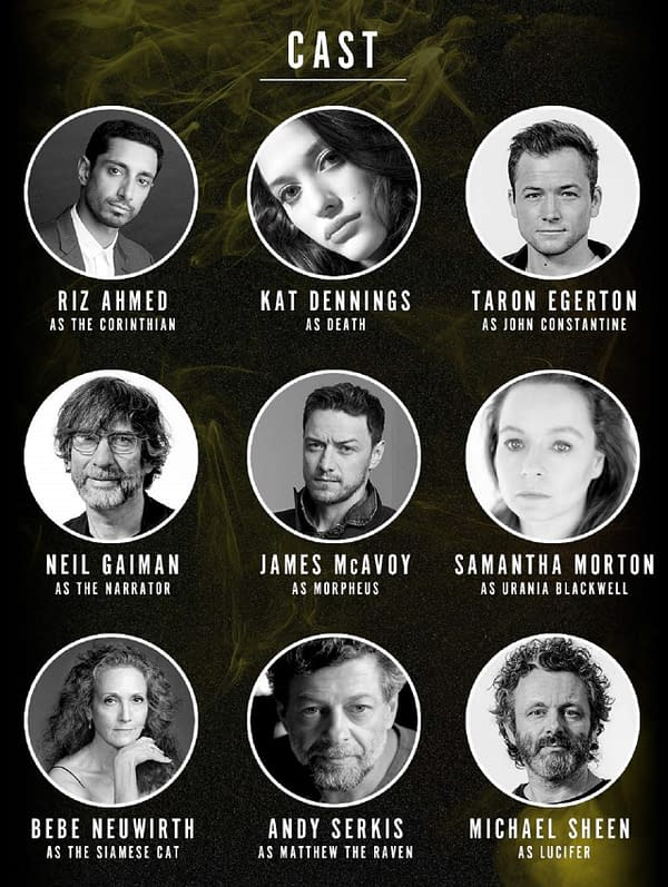 Neil Gaiman, Dirk Maggs, and Audible Originals revealed the voice cast for The Sandman audio adaptation, including James McAvoy as Dream.