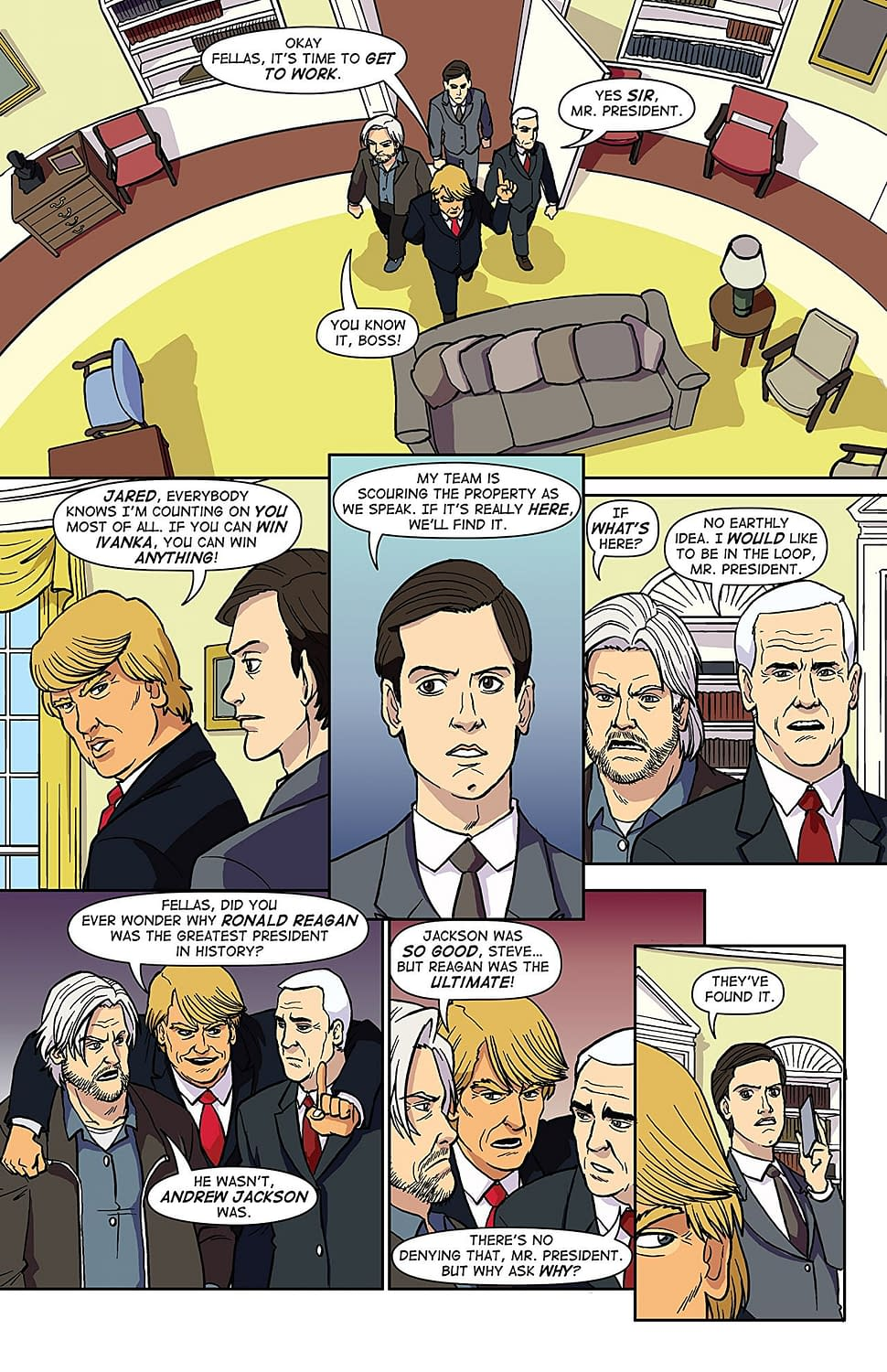 A New Comic Called 'Trump's Titans' Is Some Kind Of Parody, But Of What, And Why?