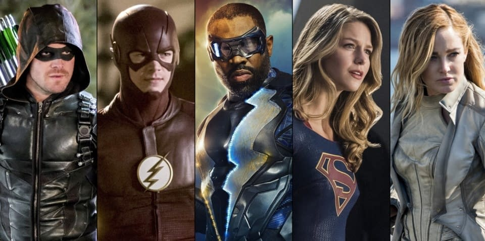 flash arrow supergirl lightning
