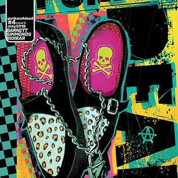 Punk's Not Dead #4 cover by Martin Simmonds