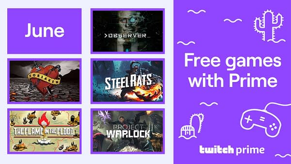 A look at Twitch's Free Games With Prime for June 2020.