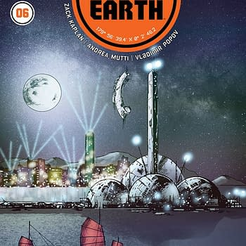 Port of Earth #6 cover by Andrea Mutti
