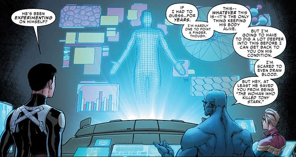 The Death of Tony Stark at the Hands Of Captain Marvel That Never Got Reversed (Tony Stark: Iron Man '#19 Spoilers)